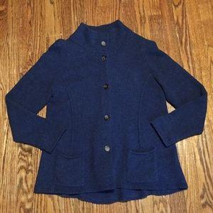 Eileen Fisher Cashmere Wool Cardigan L